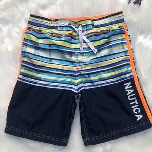 Nautica boys spell out swim trunks shorts 10 12